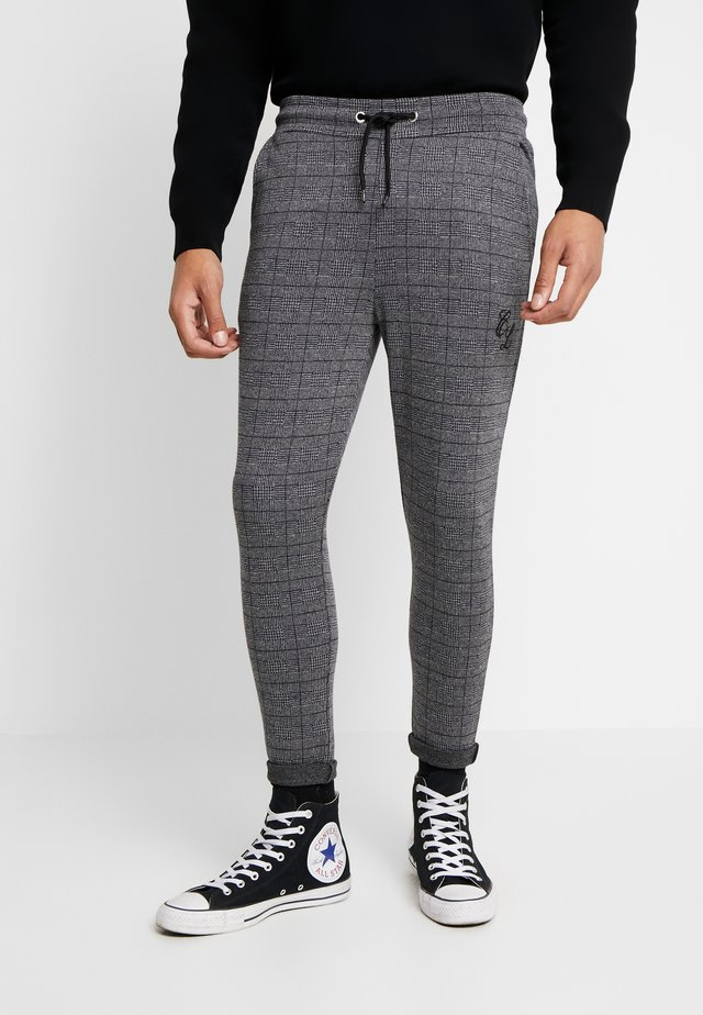 CHECKERED TROUSERS - Bukser - grey