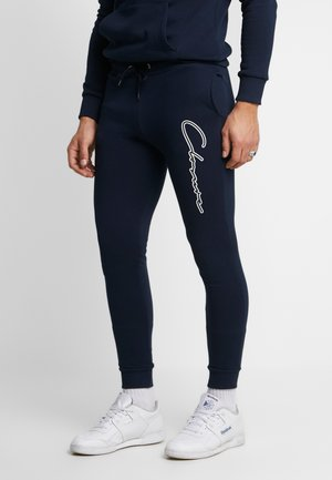 DOUBLE SCRIPT JOGGER - Pantalon de survêtement - navy