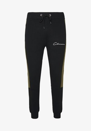BAND STRIPE JOGGER - Tracksuit bottoms - black