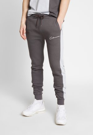 CONTRAST CUT SEW PANEL  - Pantalon de survêtement - grey
