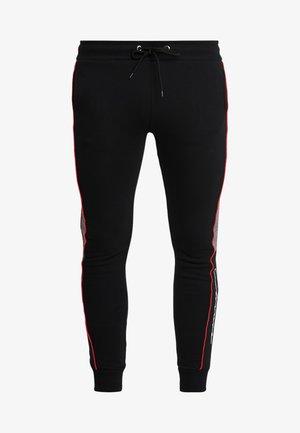 CUT SEW PIPED CHECKED - Teplákové kalhoty - black