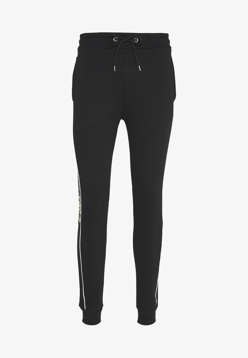 CLOSURE London - CAMO CUT SEW JOGGER - Teplákové kalhoty - black