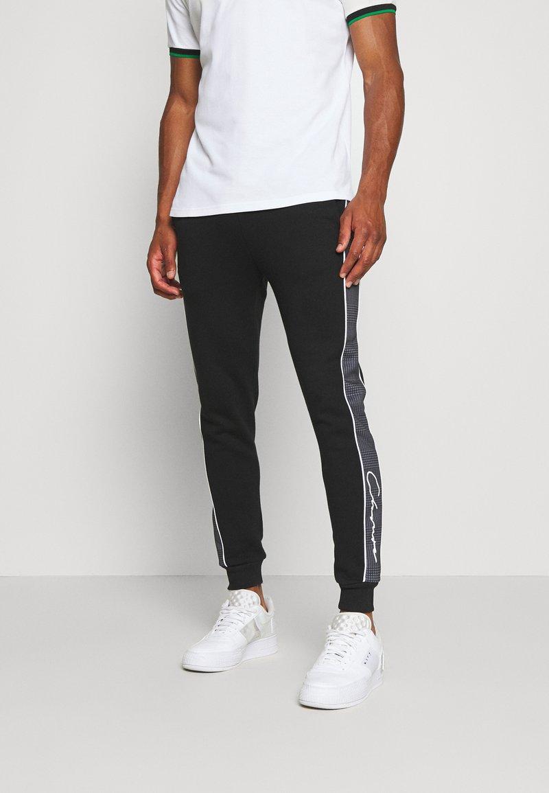CLOSURE London - CUT SEW CHECKED JOGGER - Teplákové kalhoty - black
