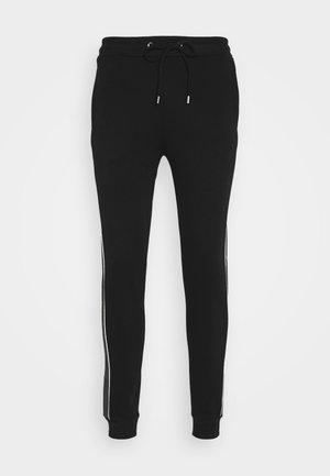 CUT SEW CHECKED JOGGER - Pantalon de survêtement - black