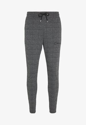 PANELLED CHECKED TROUSER - Tracksuit bottoms - charcoal