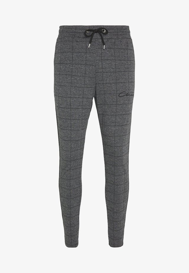 PANELLED CHECKED TROUSER - Verryttelyhousut - charcoal