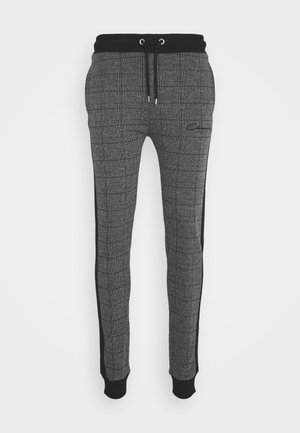 CHECKED JOGGER - Trainingsbroek - black