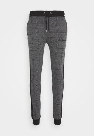 CHECKED JOGGER - Teplákové kalhoty - black