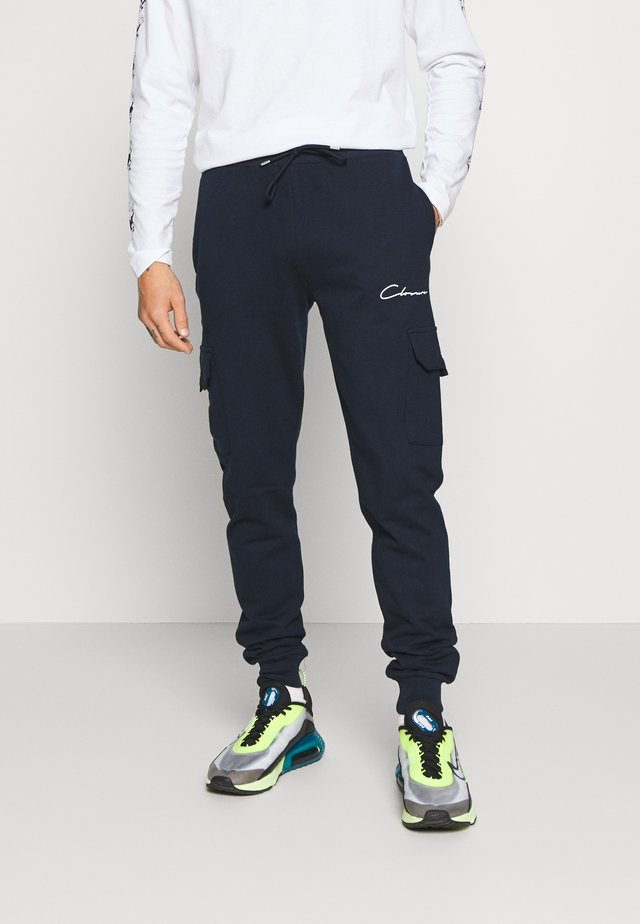 UTILITY JOGGER - Tracksuit bottoms - navy