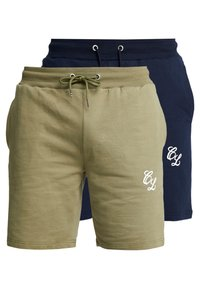 CLOSURE London - 2 PACK SHORTS - Teplákové kalhoty - navy/khaki - 0