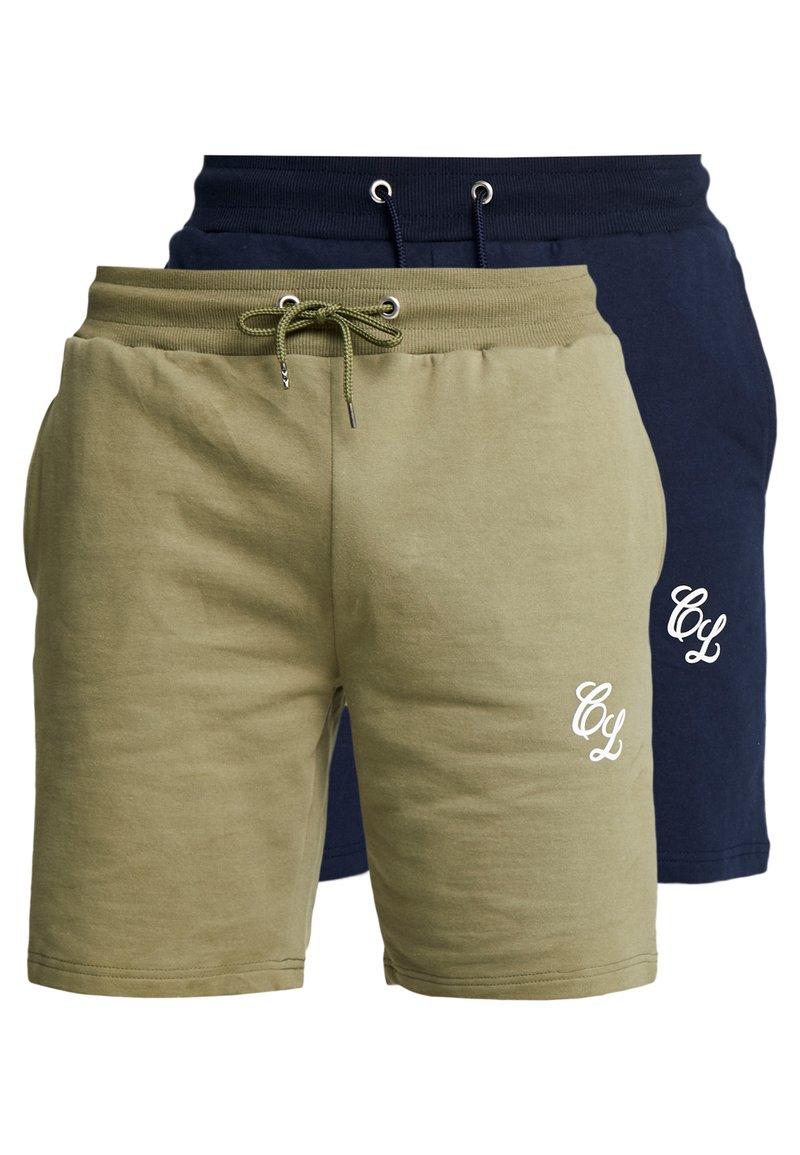 CLOSURE London - 2 PACK SHORTS - Teplákové kalhoty - navy/khaki