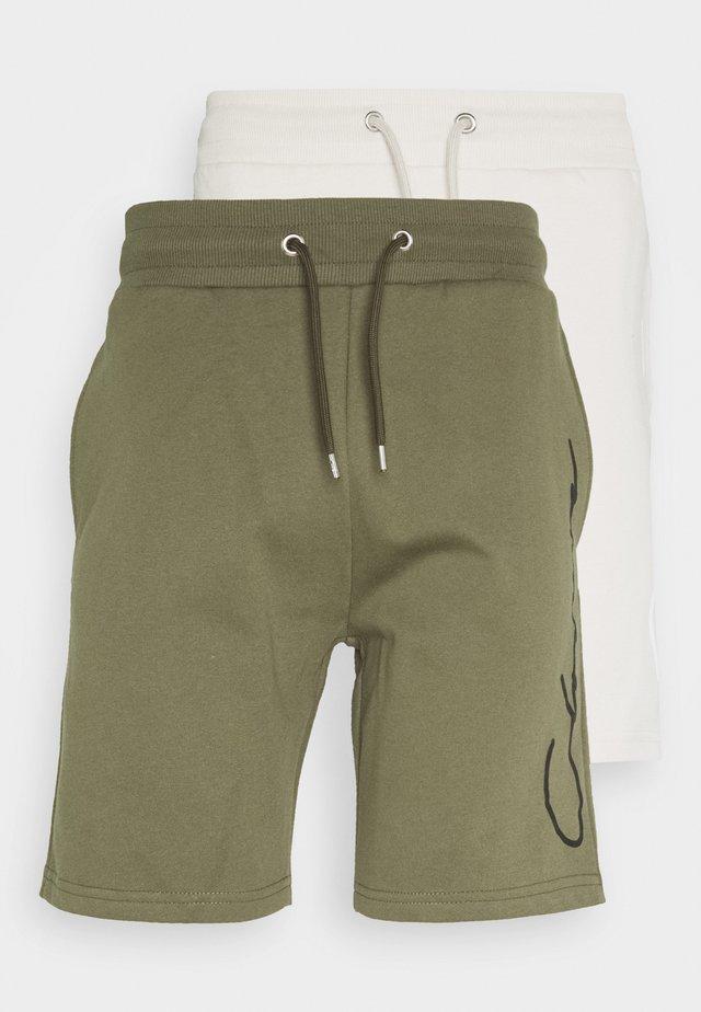 SCRIPT 2 PACK  - Teplákové kalhoty - khaki/stone