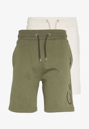 2 PACK MULTIPACK SCRIPT SHORTS - Tracksuit bottoms - khaki/stone
