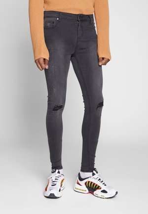 SPRAY ON RIPPED - Jeans Skinny - grey