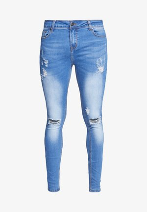SPRAY ON RIPPED - Jeans Skinny Fit - blue