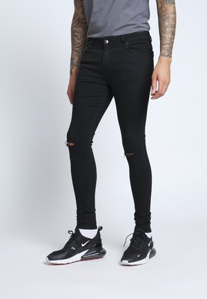 SPRAY ON RIPPED - Jeans Skinny Fit - black