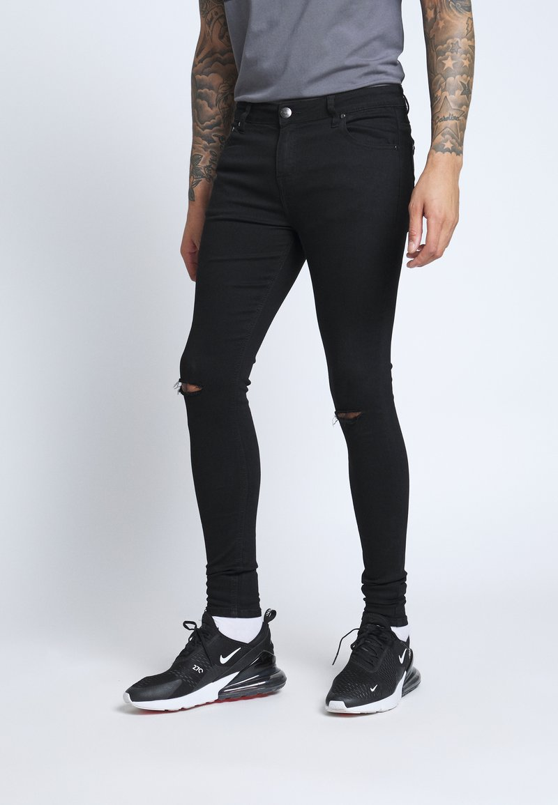 CLOSURE London - SPRAY ON RIPPED - Jeans Skinny Fit - black