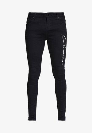 SCRIPT SPRAY ON - Jeans Skinny Fit - black