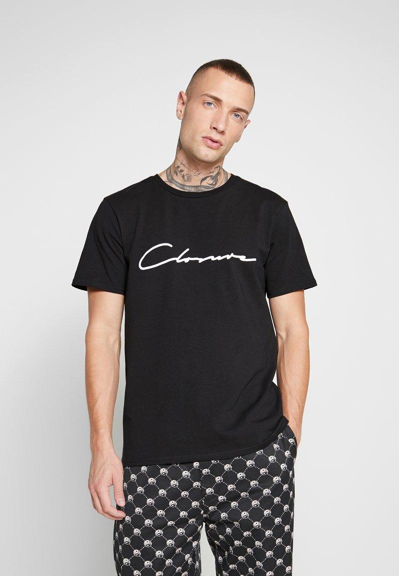 CLOSURE London - SCRIPT TEE - T-shirt med print - black