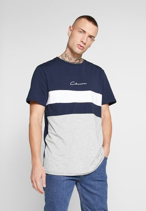 SEW TEE - T-shirt con stampa - navy/white/grey