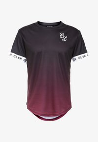 CLOSURE London - FADE CUFF TEE - Camiseta estampada - black/red - 3