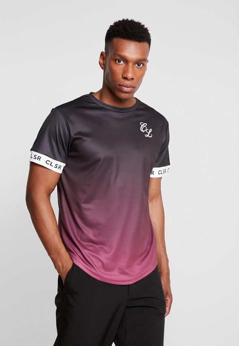 CLOSURE London - FADE CUFF TEE - Camiseta estampada - black/red