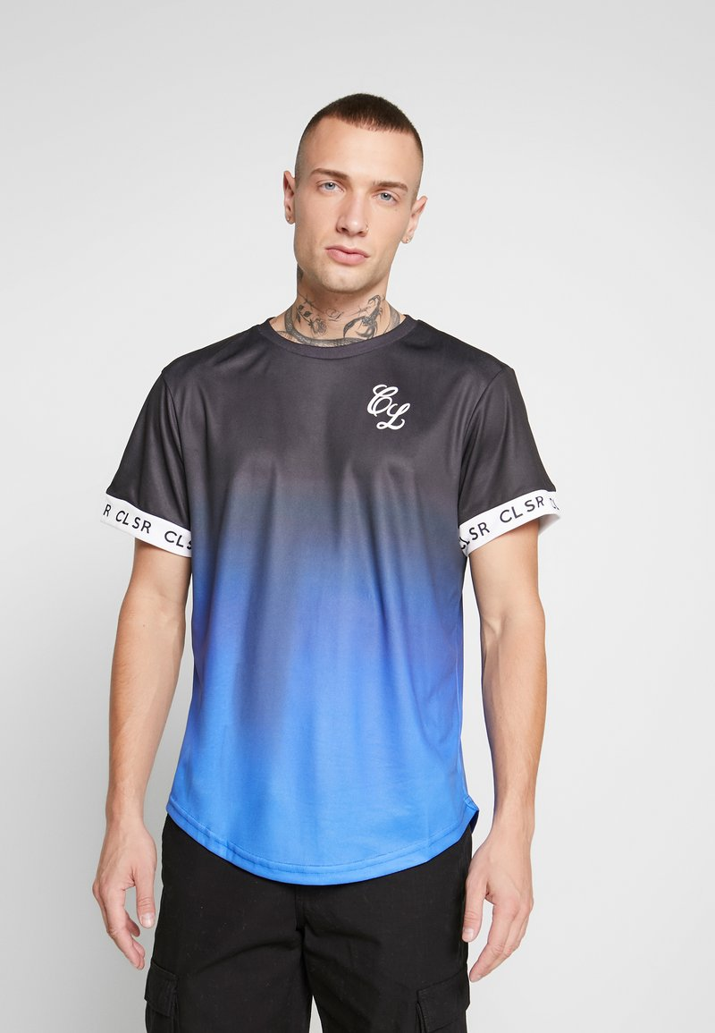 CLOSURE London - FADE CUFF TEE - T-shirt print - black/blue