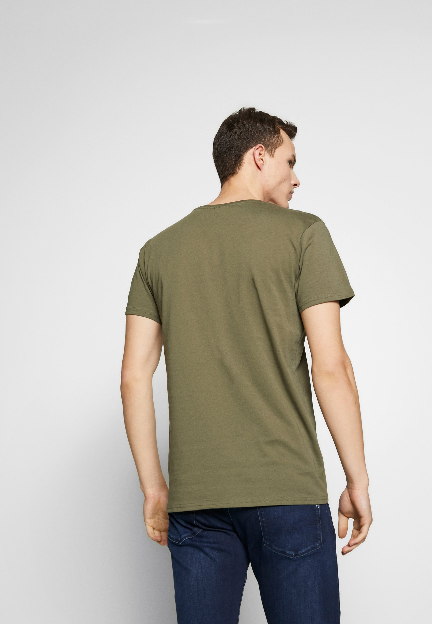 CLOSURE London SIGNATURE TEE 3 PACK - T-shirt basic - grey/khaki/black