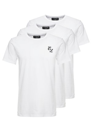 SIGNATURE TEE ONE COLOUR 3 PACK - T-shirt - bas - white