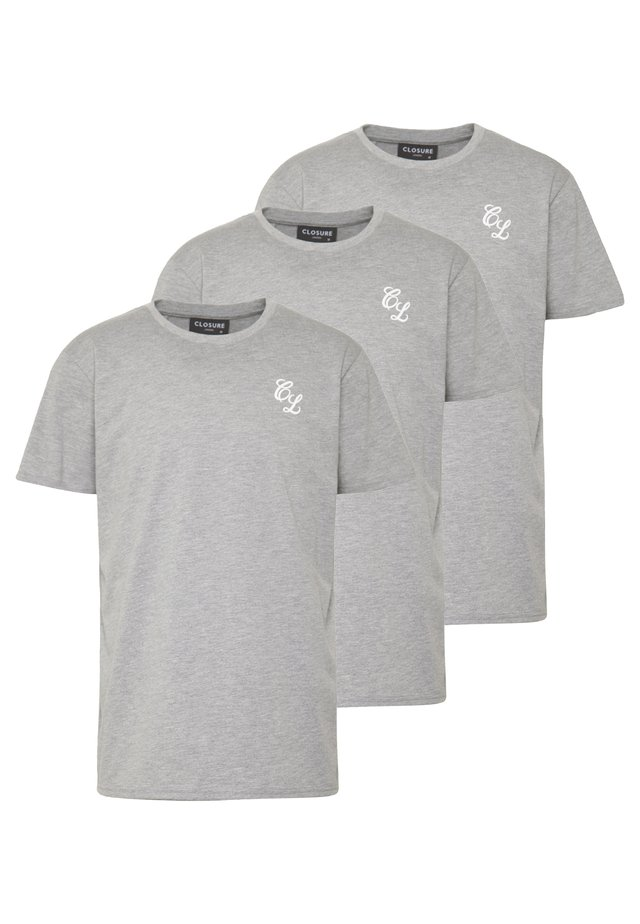 SIGNATURE TEE ONE COLOUR 3 PACK - Basic T-shirt - grey