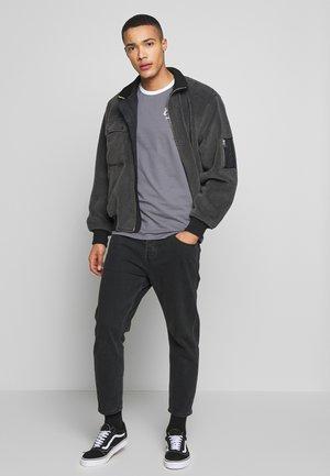 3 PACK SIGNATURE RINGER - T-shirt basic - grey/kahki/black