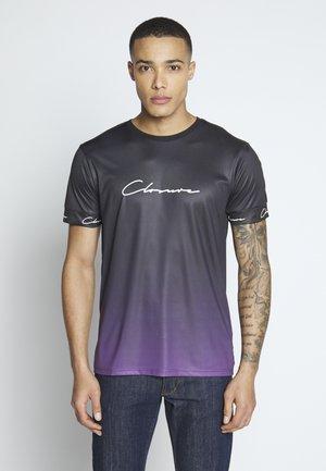 FADE SCRIPT BAND TEE - T-shirt print - purple