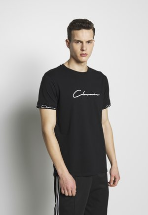 SCRIPT HIDDEN BAND TEE - T-shirt imprimé - black