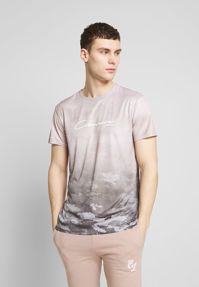 WASHED CAMO TEE - Print T-shirt - taupe