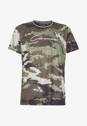 CAMO DOT TEE - T-shirt med print - khaki