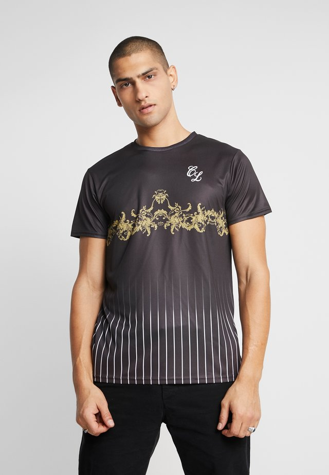 BAROQUE PIN STRIPE TEE - T-shirt med print - black
