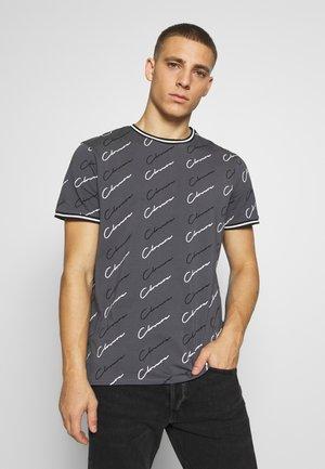 SCRIPT TEE - Print T-shirt - grey