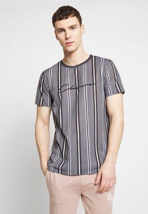 STRIPE HERRINGBONE TEE - T-Shirt print - grey