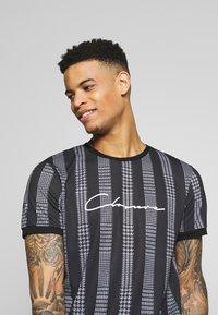 CLOSURE London - STRIPED CHECK TEE - T-Shirt print - black - 3