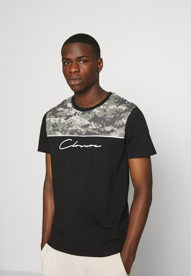 CAMO CUT TEE - T-shirt print - black