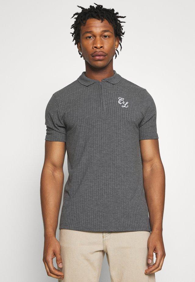TONAL ZIP TEE - Poloshirt - charcoal