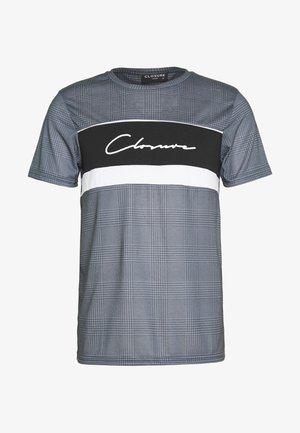 PANELLED TEE - T-shirt print - black