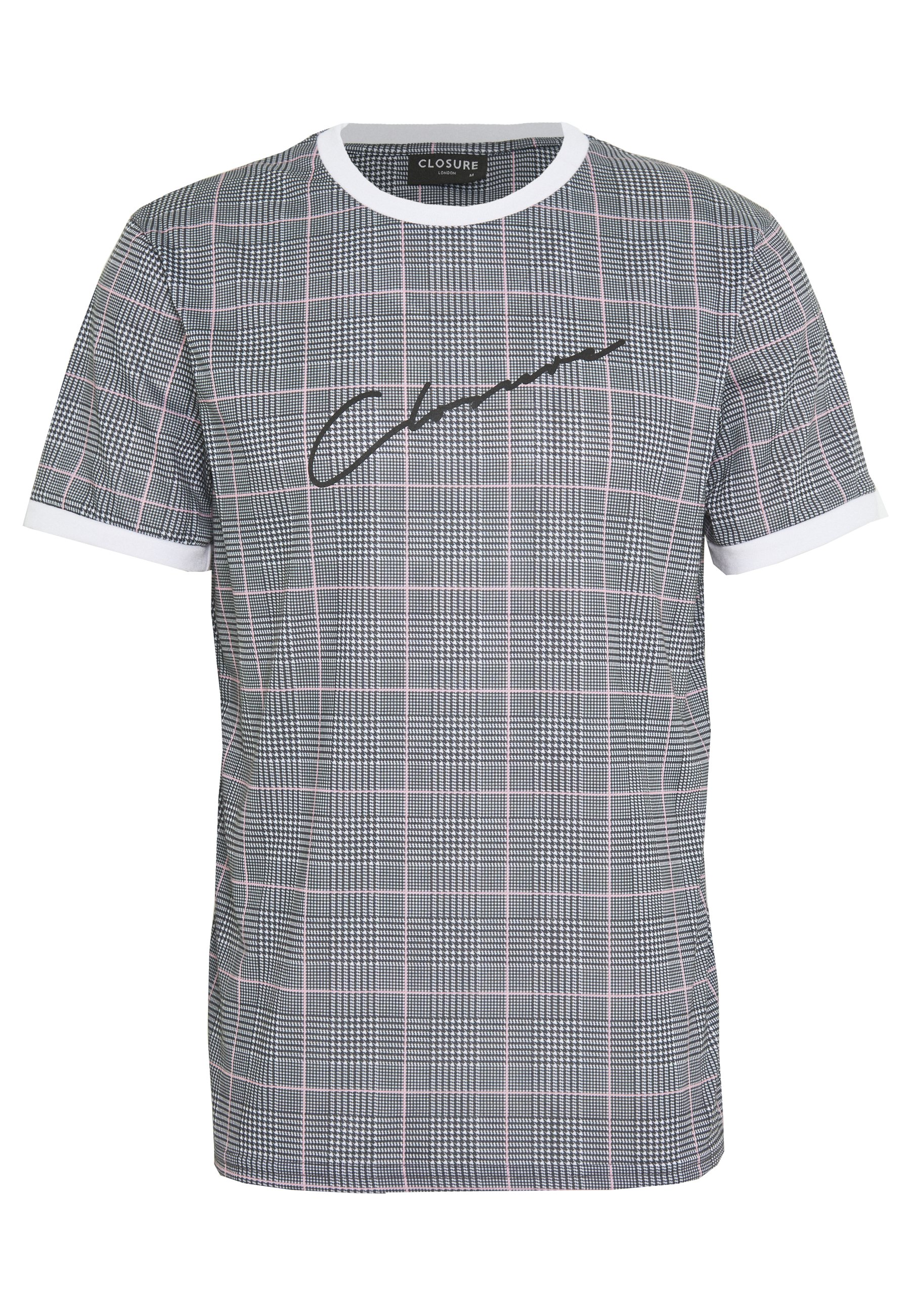 CLOSURE London CHECKED SCRIPT TEES - T-shirt z nadrukiem - pink