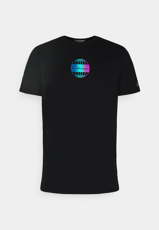 GLOBAL TEE - T-shirts med print - black