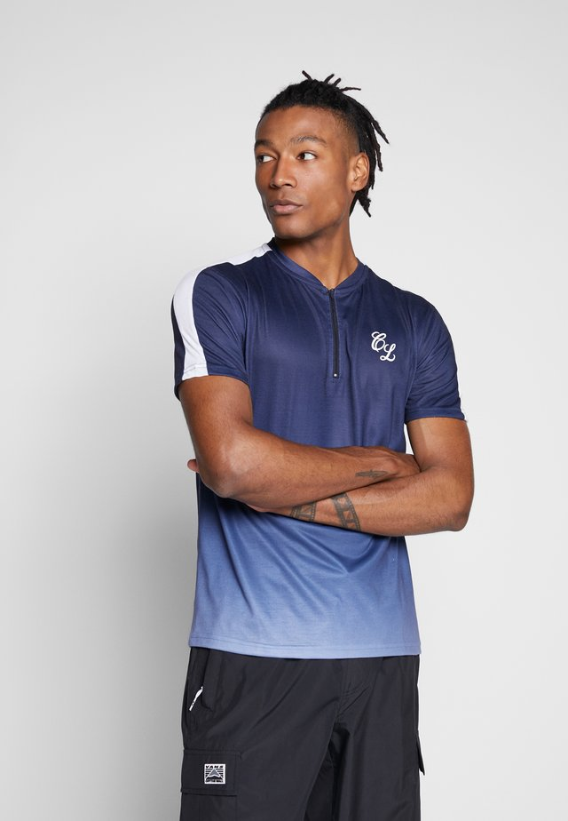 CONTRAST FADE - T-shirt con stampa - navy