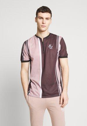 STRIPE TEE - Polo shirt - dark neutral/black