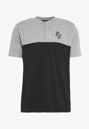 CONTRAST STRIPE TEE - T-shirt print - grey