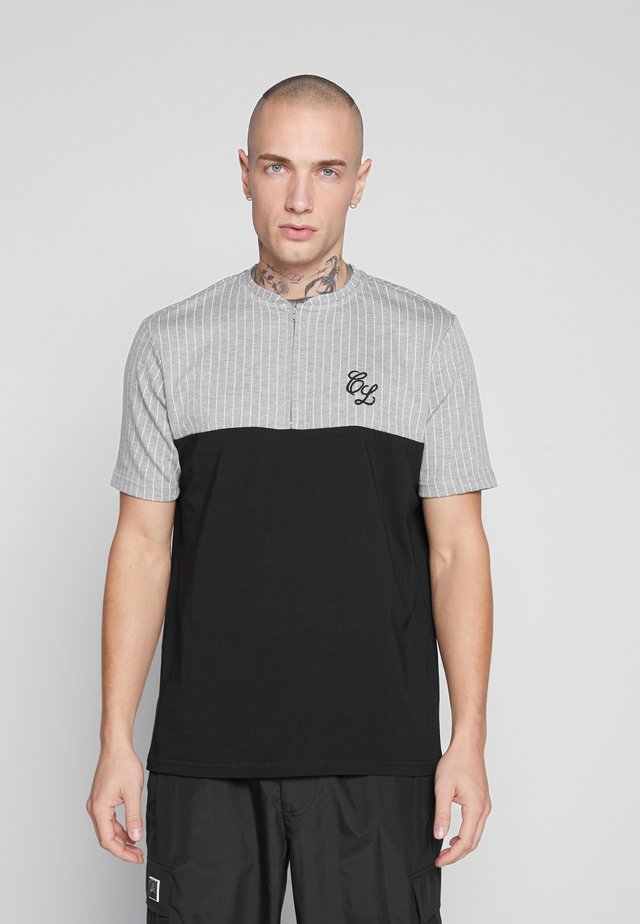 CONTRAST STRIPE TEE - T-shirt con stampa - grey
