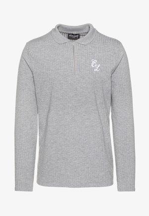 TONAL ZIP SLEEVED - Poloskjorter - grey