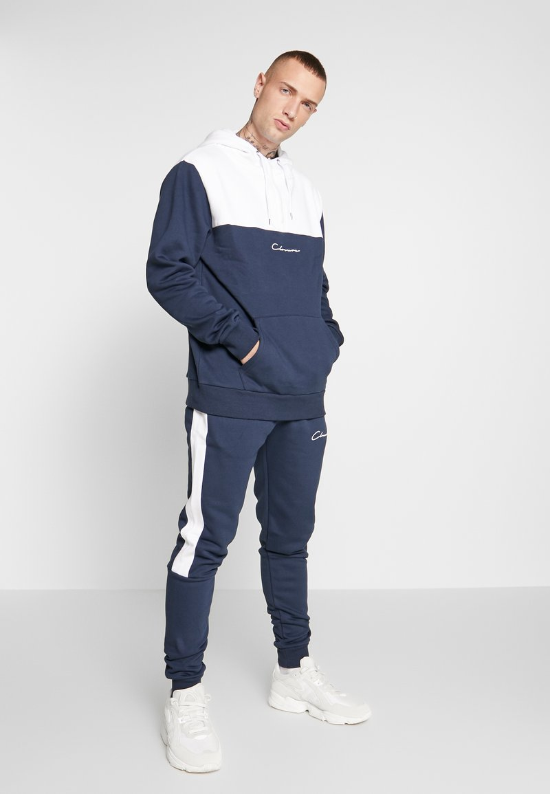 CLOSURE London - CONTRAST TRACK SUIT - Hoodie - white/navy